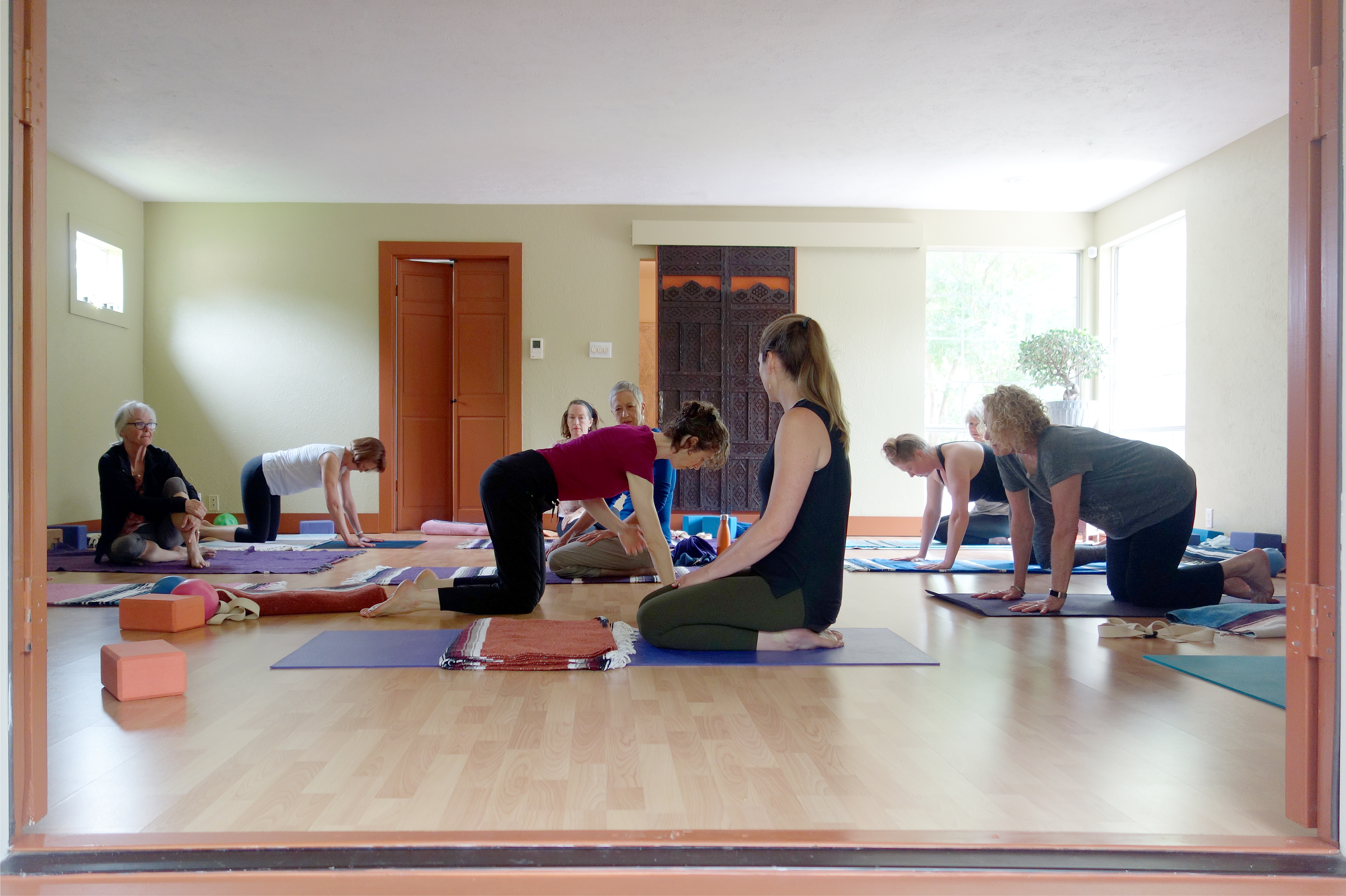 somatic yoga class dallas Jessica O'Keefe demonstrating